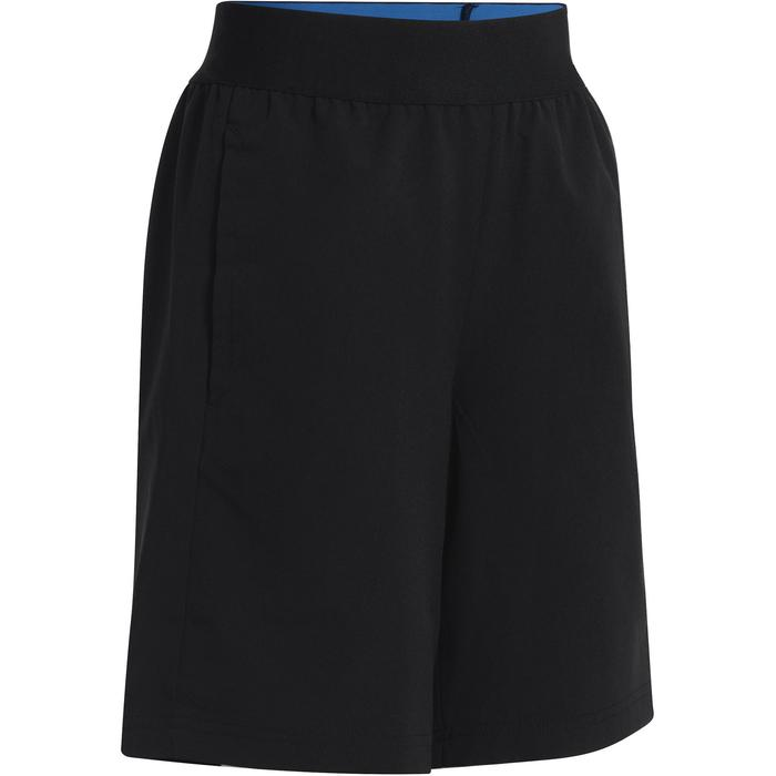 Pantalón Corto De Gimnasia Adidas Transpirable Ajustable Y Bolsillos Niño Negro