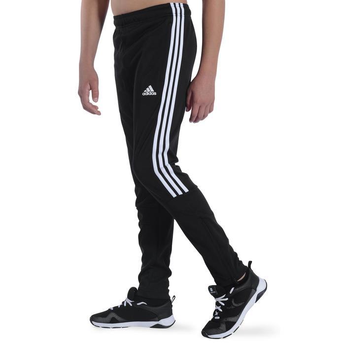 Pantalon Fitness garçon noir blanc - 1091890