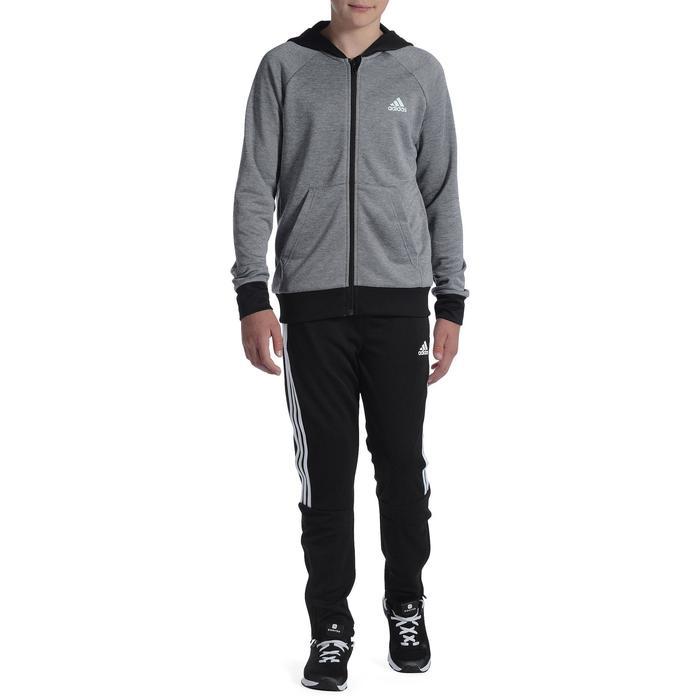 Pantalon Fitness garçon noir blanc - 1091906