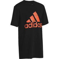 T-shirt voor fitness jongens Adidas zwart