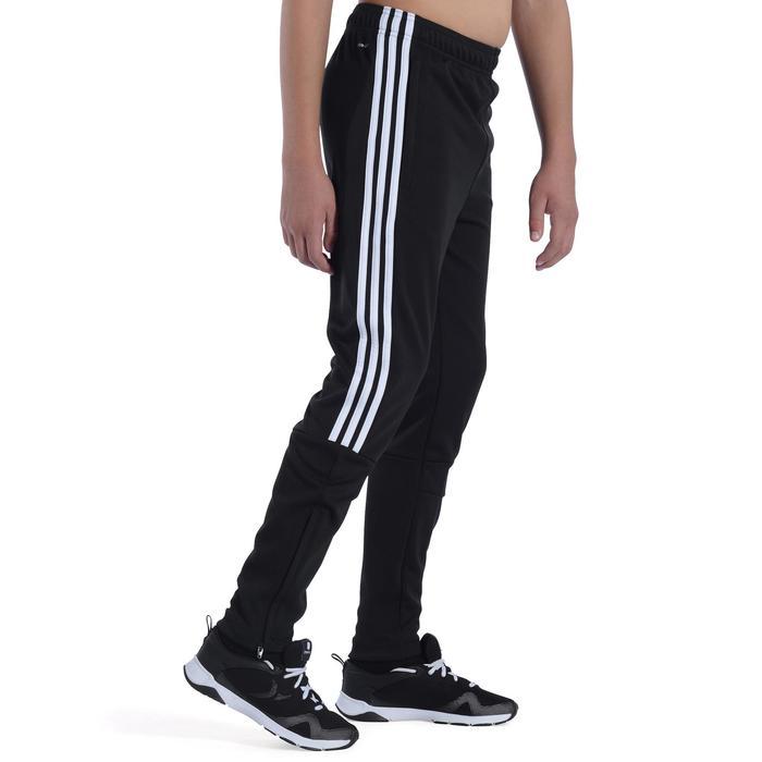 Pantalon Fitness garçon noir blanc - 1091957