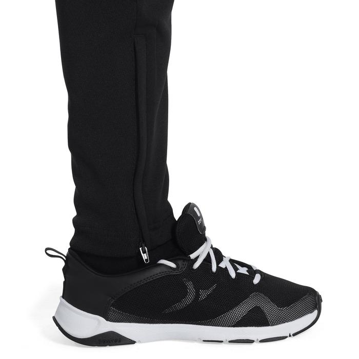 Pantalon Fitness garçon noir blanc - 1091960