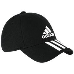Fitnesspet Adidas zwart/wit dames/heren