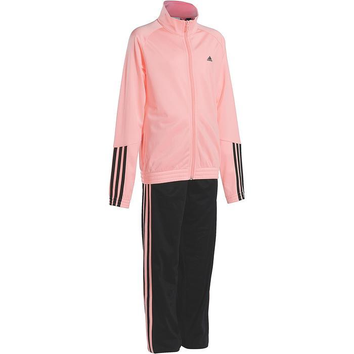 Survêtement Fitness fille rose noir - 1092131