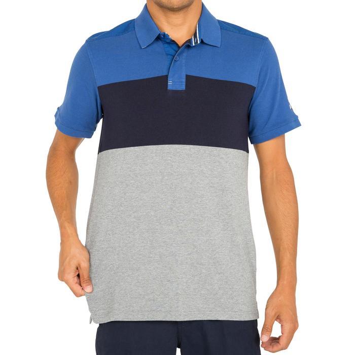 Camiseta Manga Corta Marinera Barco Vela Tribord Hombre Algodón Rayas Azul