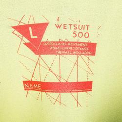 Neopreen herenwetsuit 3/2 mm gestikt/gelijmd zeilen Dinghy 500 zwart/oranje