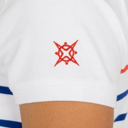 Poloshirt Segeln 100 Damen weiß/blau gestreift