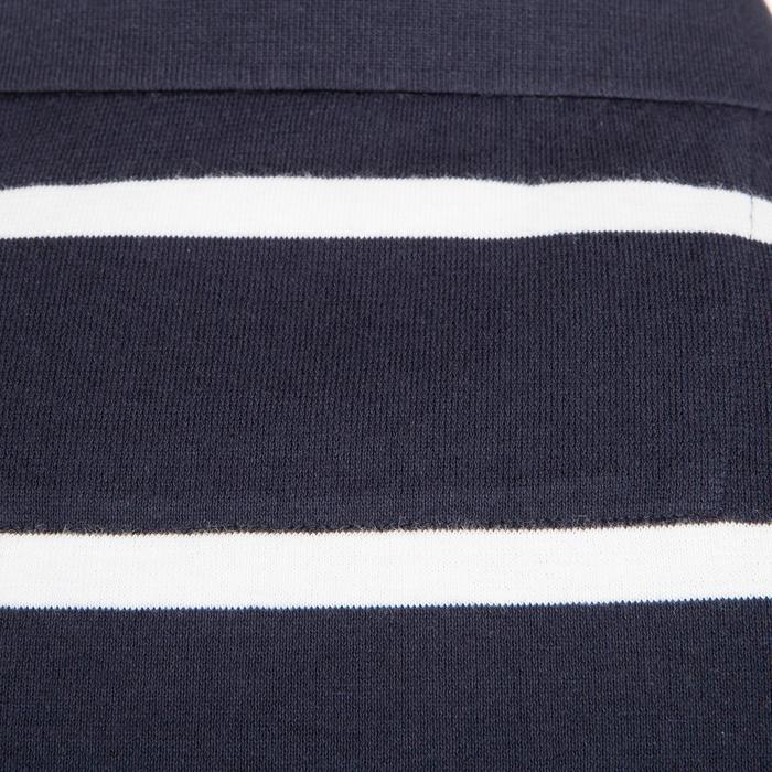 Polo de Manga Corta Barco Vela Aventura 100 Hombre Rayas Azul Oscuro