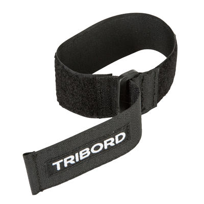 Ankle straps for surfing, kitesurfing and windsurfing wetsuits - Black