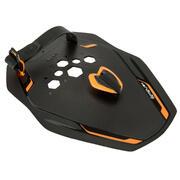 Črne in oranžne plavalne lopatke QUICK'IN