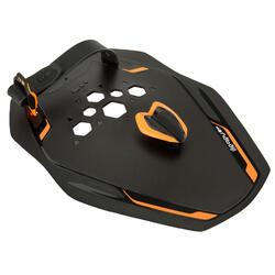 Zwempaddles Pro Quick'in zwart/oranje