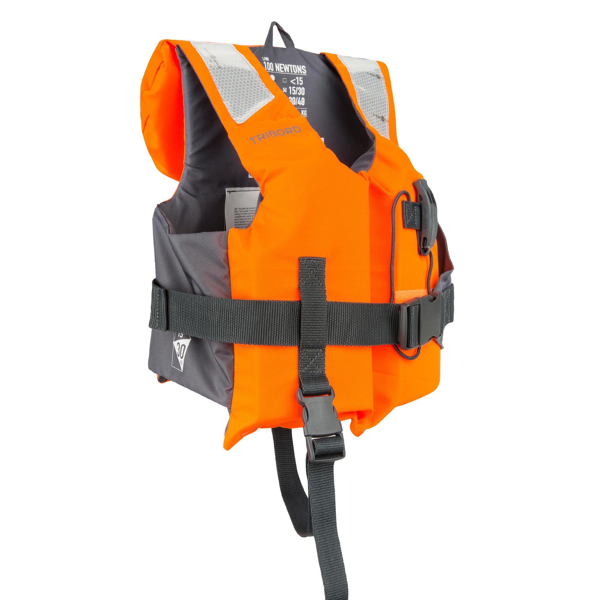 gilet de sauvetage mousse enfant lj 100n easy orange gris tribordvoile. Black Bedroom Furniture Sets. Home Design Ideas