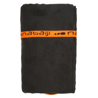מגבת מיקרופייבר קומפקטית מידה L 80X130 ס_QUOTE_מ - צבע אפור כהה