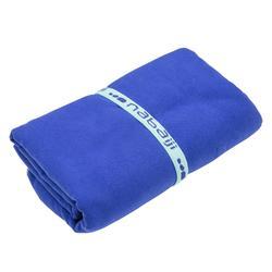 Toalla Baño Piscina Natación Nabaiji Azul Oscuro Microfibra Talla XL Aquagym