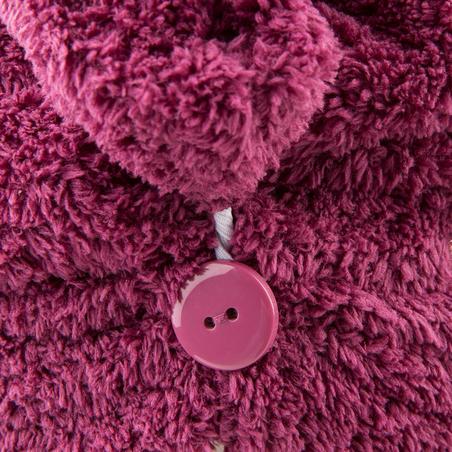 Serviette microfibre douce cheveux violet foncé