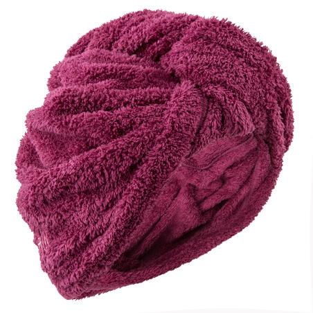 Soft Microfibre Hair Towel - Burgundy