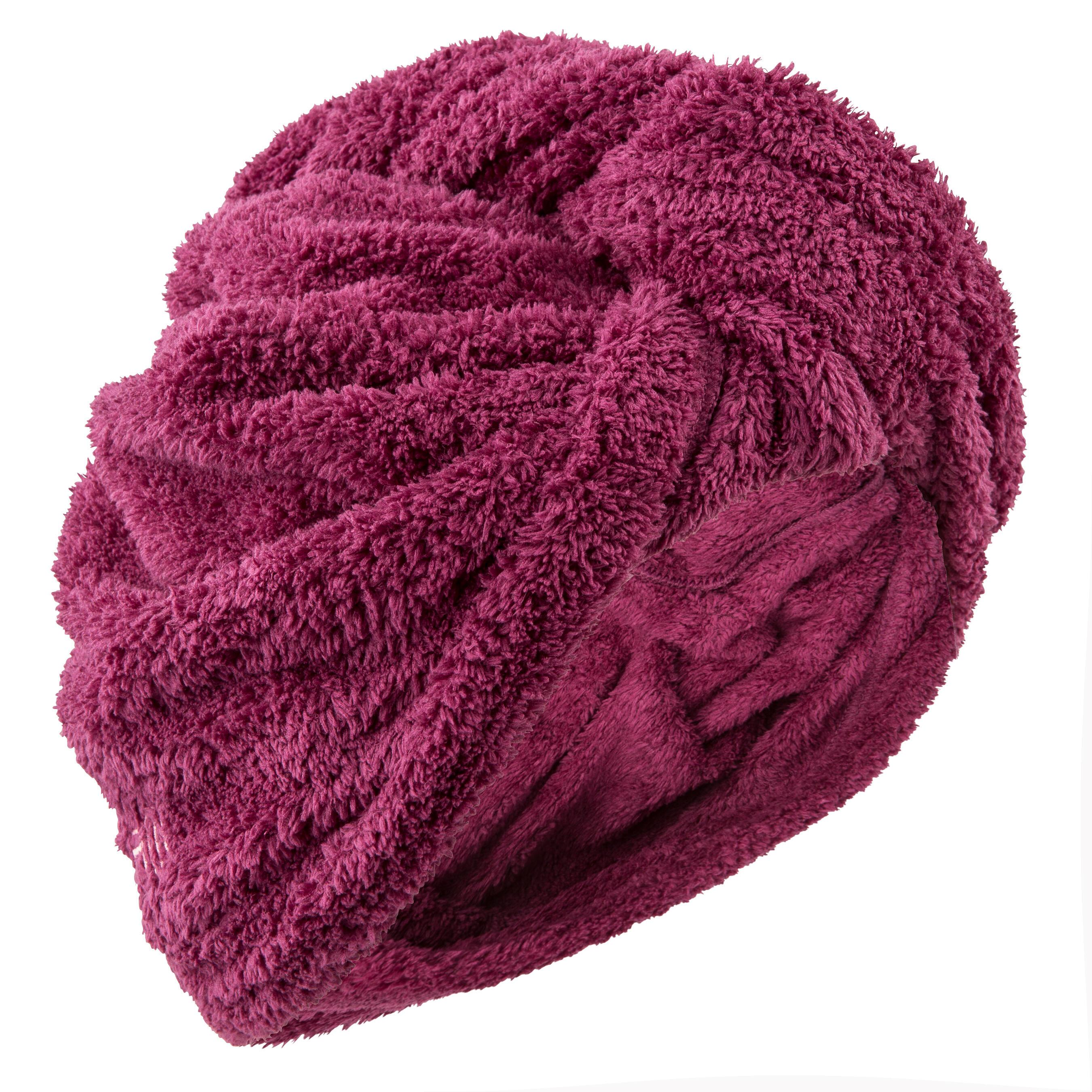 Soft Microfibre Hair Towel - Bordeaux