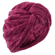 Soft Microfibre Hair Towel - Burgundy