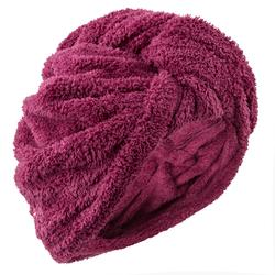 Haar-Handtuch Mikrofaser weich bordeaux