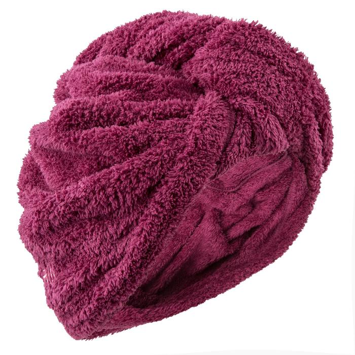 Mikrofaser-Handtuch Haare dunkelpink