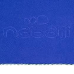 Toalla Baño Piscina Natación Nabaiji Microfibra Compacta Talla L Azul Oscuro