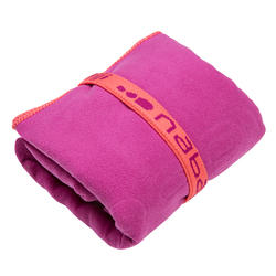 Zeer compacte microvezel handdoek cinablauw maat L 80 x 130 cm - 1092767