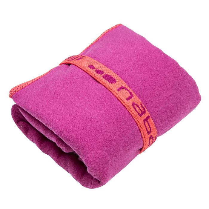 Toalla de microfibra violeta ultracompacta talla L 80 x 130 cm