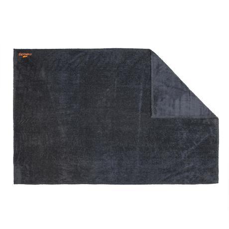serviette microfibre ultra douce gris fonc taille l 110x 175 cm nabaiji. Black Bedroom Furniture Sets. Home Design Ideas