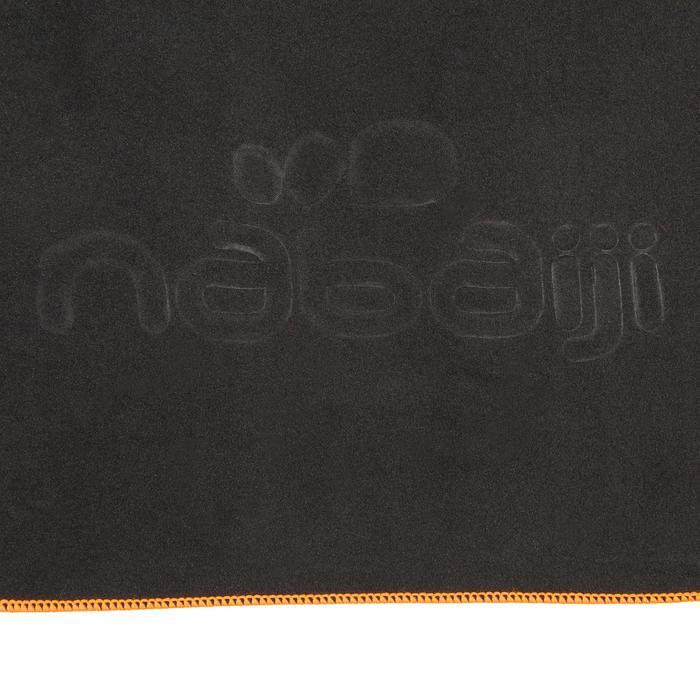 Supercompacte microvezelhanddoek donkergrijs maat M 65 x 90 cm