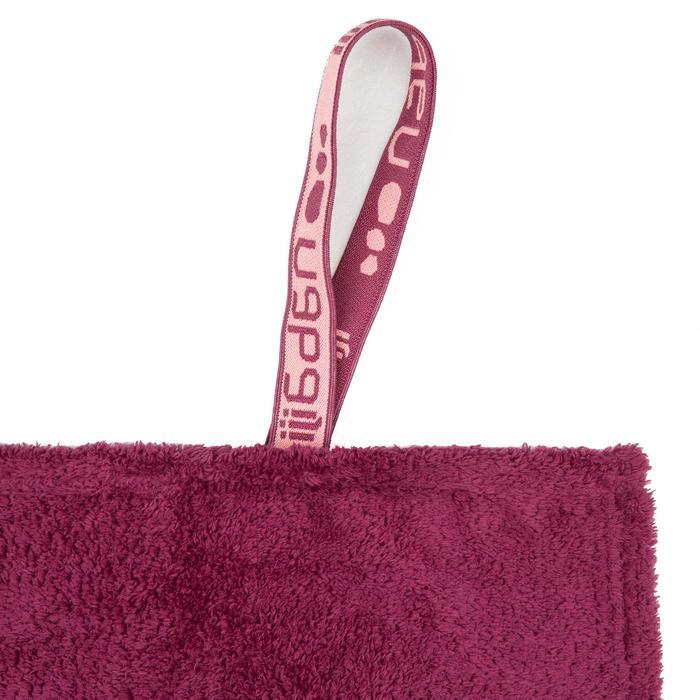 Zachte microvezel handdoek paars maat L 80 x 130 cm