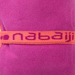 Zeer compacte microvezel handdoek cinablauw maat L 80 x 130 cm - 1092783