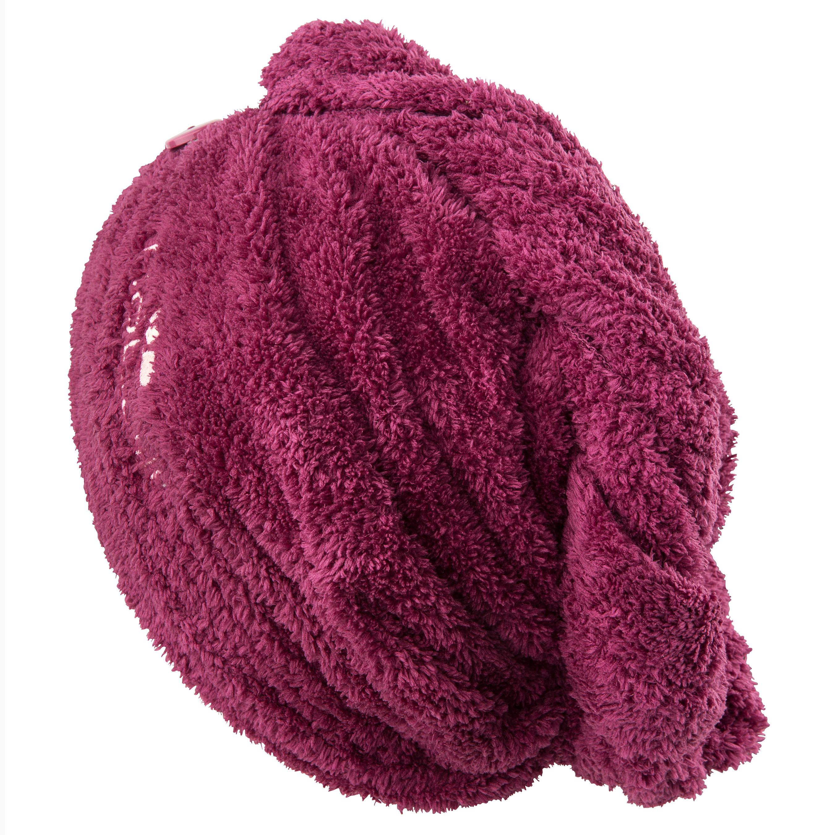 Serviette cheveux bordeaux en microfibre douce
