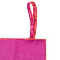 Zeer compacte microvezel handdoek cinablauw maat L 80 x 130 cm - 1092817