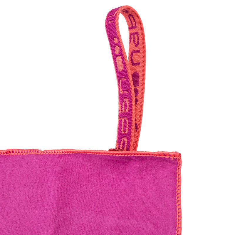 ผ้าขนหนูไมโครไฟเบอร์ขนาดกะทัดรัดเป็นพิเศษ ขนาด L 80 x 130 ซม. (สีม่วง)