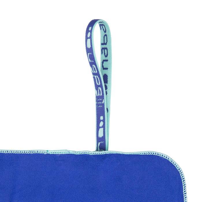 Supercompacte microvezelhanddoek blauw maat XL 110 x 175 cm