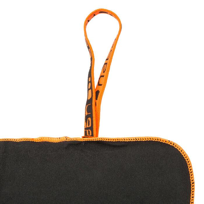 Toalla de microfibra gris oscuro ultra compacta talla XL 110 x 175 cm