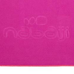 Zeer compacte microvezel handdoek cinablauw maat L 80 x 130 cm - 1092824