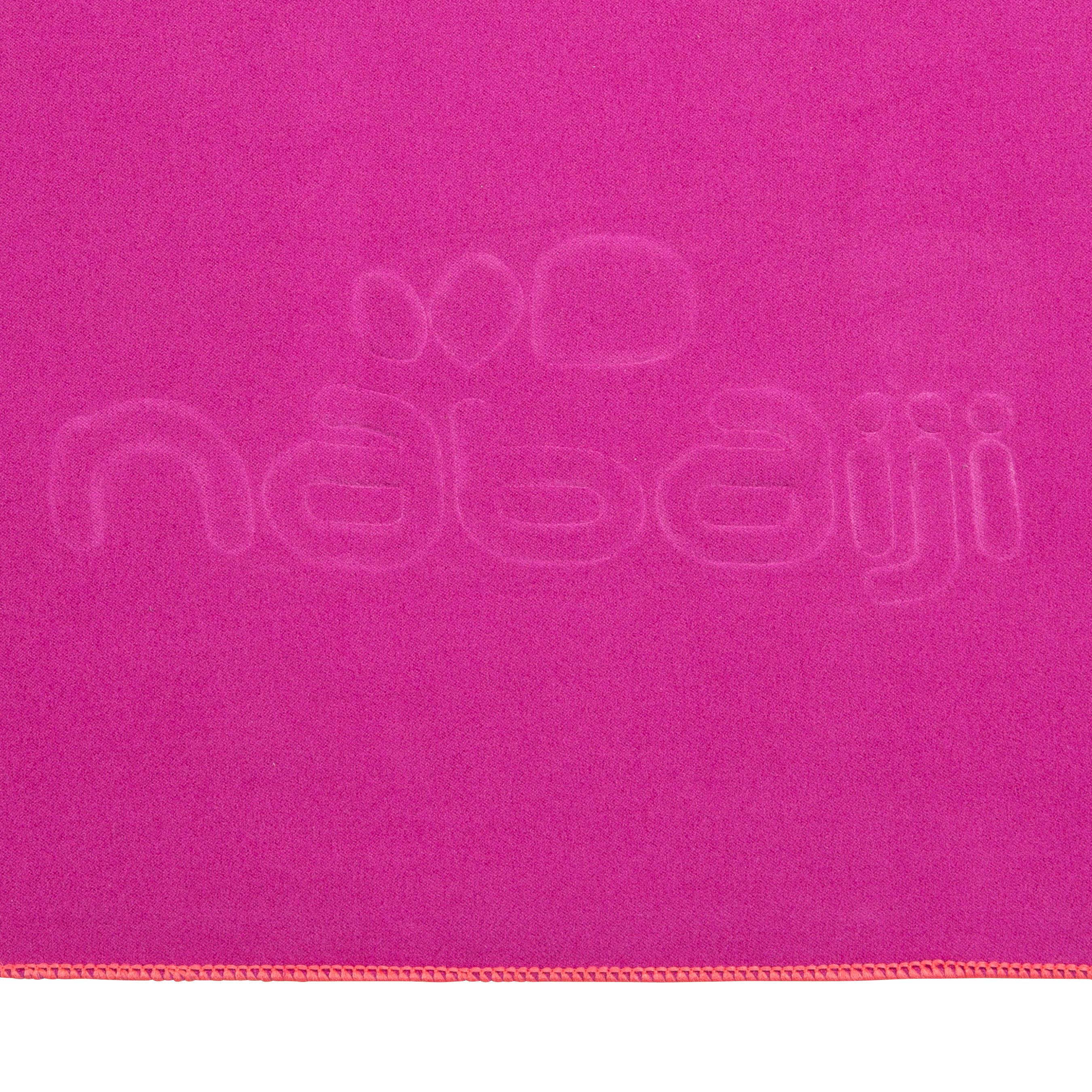 Ultra-Compact Microfibre Towel Size L 80 x 130 cm - Purple