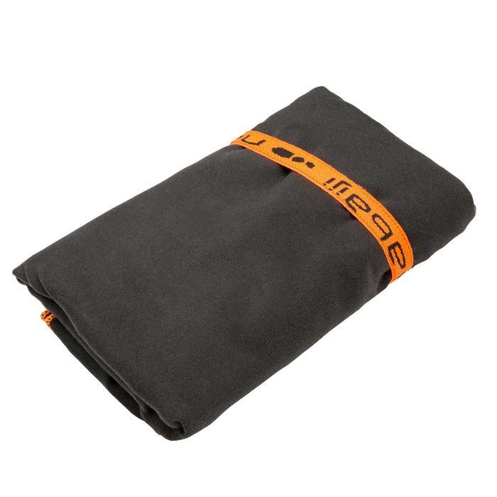 Toalla de microfibra gris oscuro ultra compacta talla M 65 x 90 cm