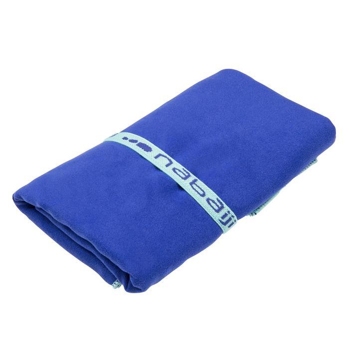 Toalla de microfibra azul ultracompacta talla L 80 x 130 cm