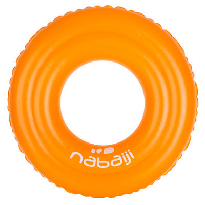 Orange iInflatable swim ring 51 cm for children of 3 to 6 years