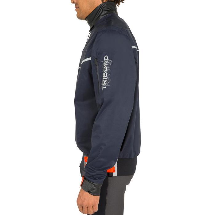 super populaire 38d1d 43fe2 Vareuse coupe-vent Voile homme Dinghy 500 bleu foncé/orange