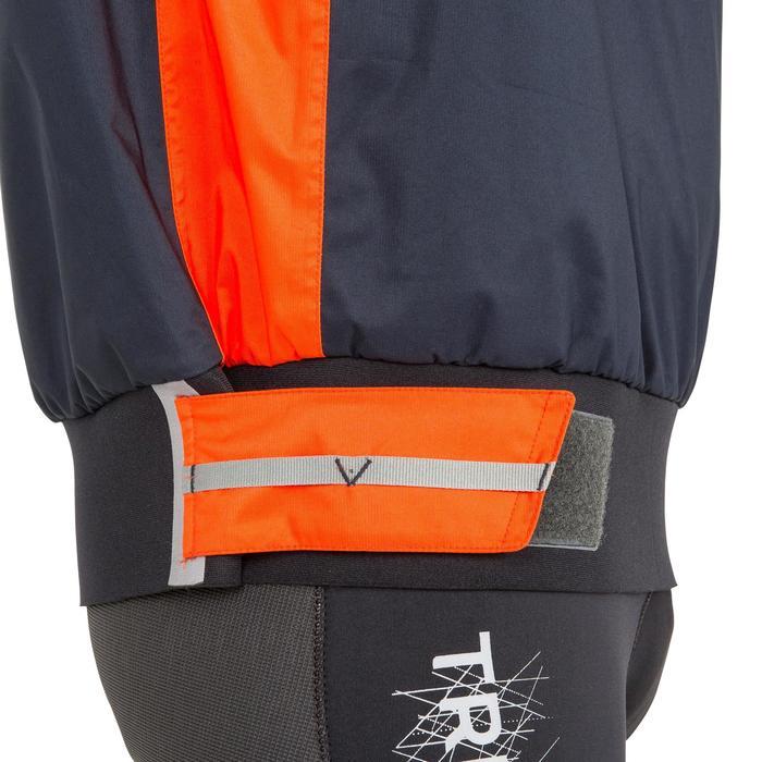 Chaqueta náutica Vareuse cortaviento Vela hombre Dinghy 500 azul oscuro/naranja