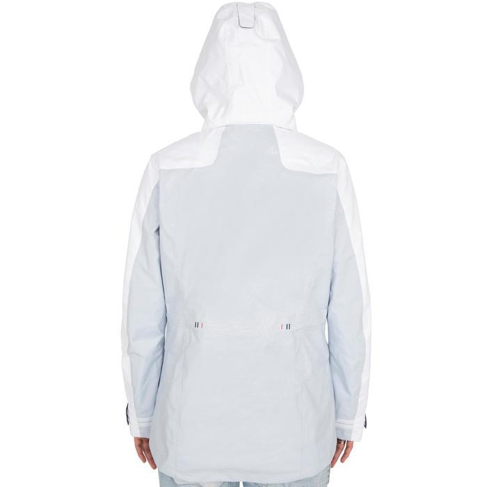 Segeljacke wasserdicht 100 Damen weiß/grau