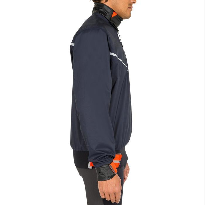 Segeljacke Dinghy 500 winddicht Herren dunkelblau/orange