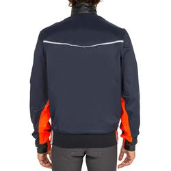 Chaqueta Cortaviento Nautica Vareuse 500 Hombre Azul/Naranja Impermeable