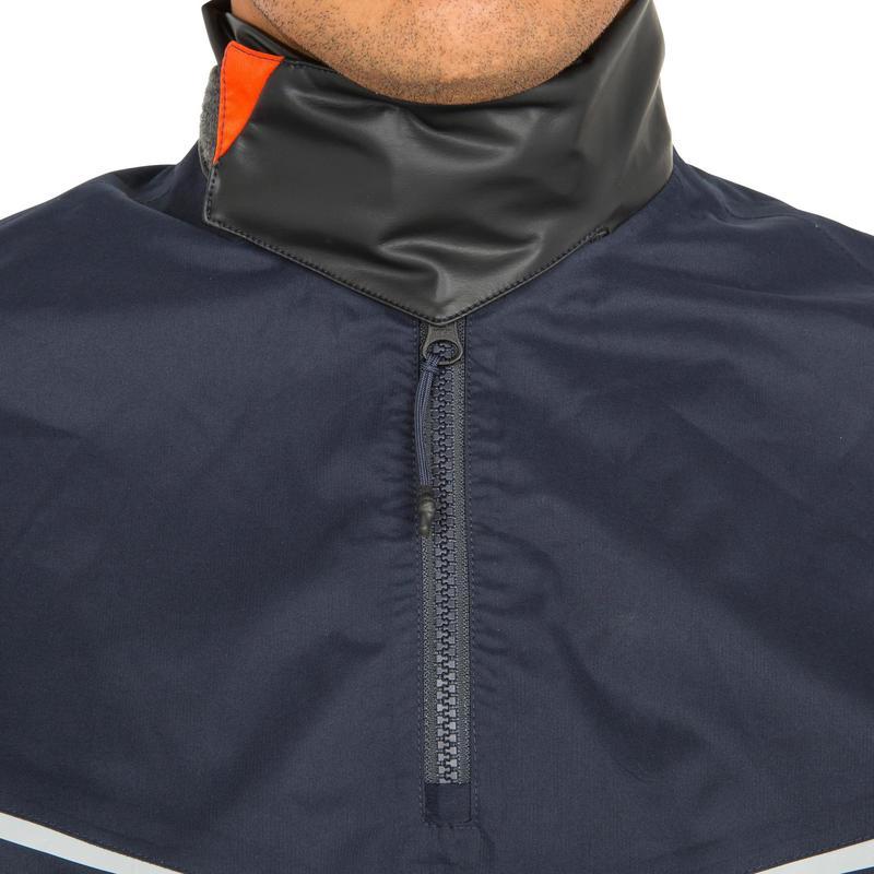 nouveau concept 7e723 8b8bf - Vareuse coupe-vent Voile homme Dinghy 500 bleu foncé/orange
