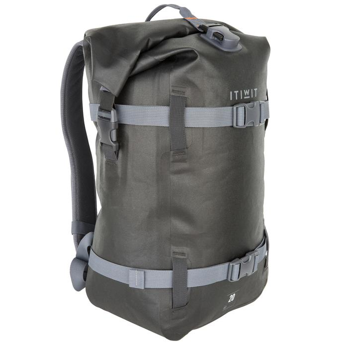 防水背包20 L-黑色