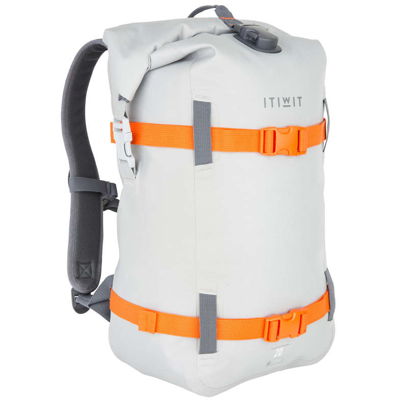 WATERPROOF BAGS Bags - Waterproof Backpack 20L - Grey ITIWIT - Bags