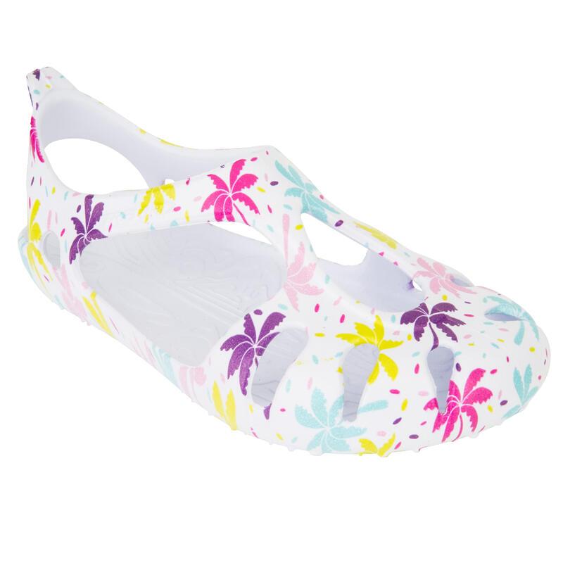 Girls' Beach Shoes 100 - Palm White